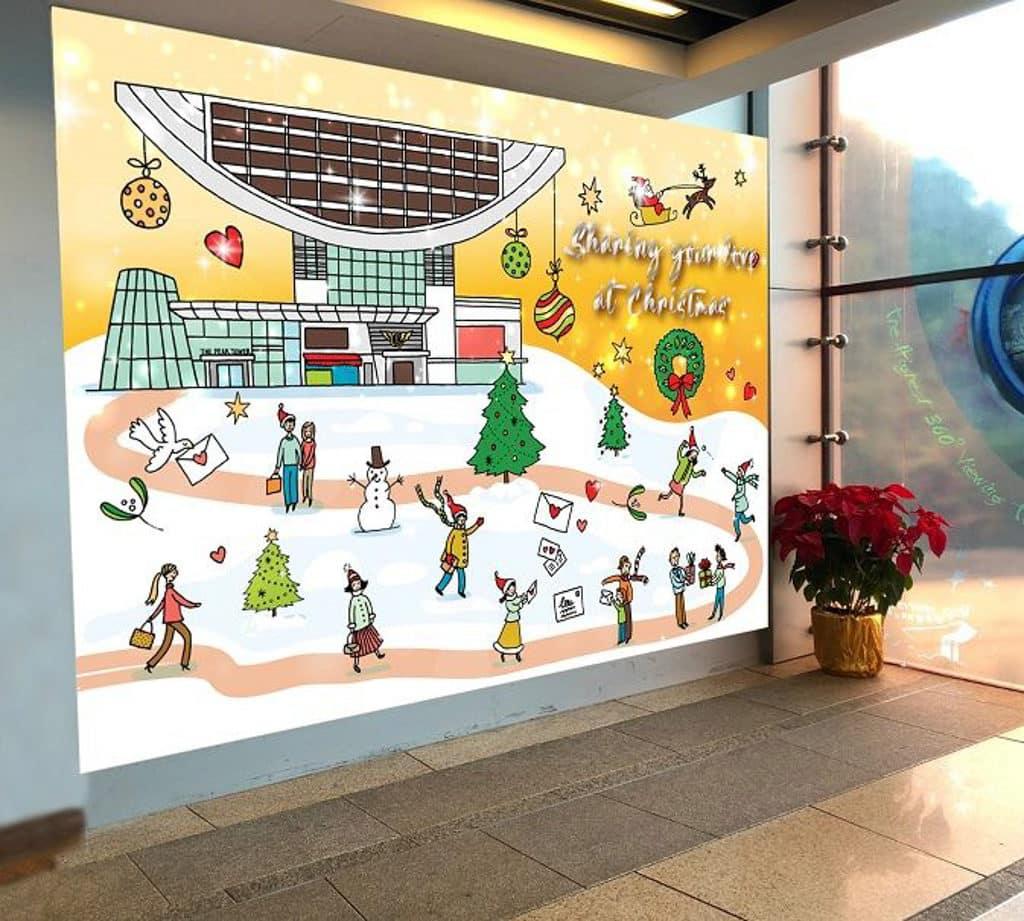 「山頂冬日聖誕」聖誕裝置展覽 人氣藝術家 Mariko Jesse,創作一系列充滿聖誕元素的打卡拍照場景。