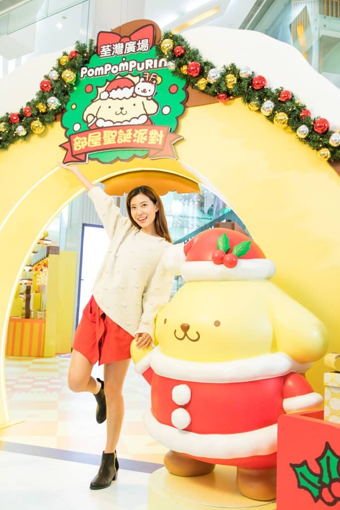 荃灣廣場Pompompurin部屋聖誕派對 Pompompurin 「布丁」粉絲招手區