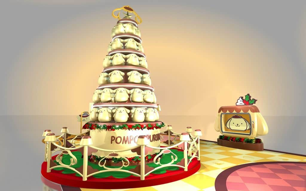 荃灣廣場:Pompompurin 部屋聖誕派對-11 呎高軟綿綿聖誕樹。