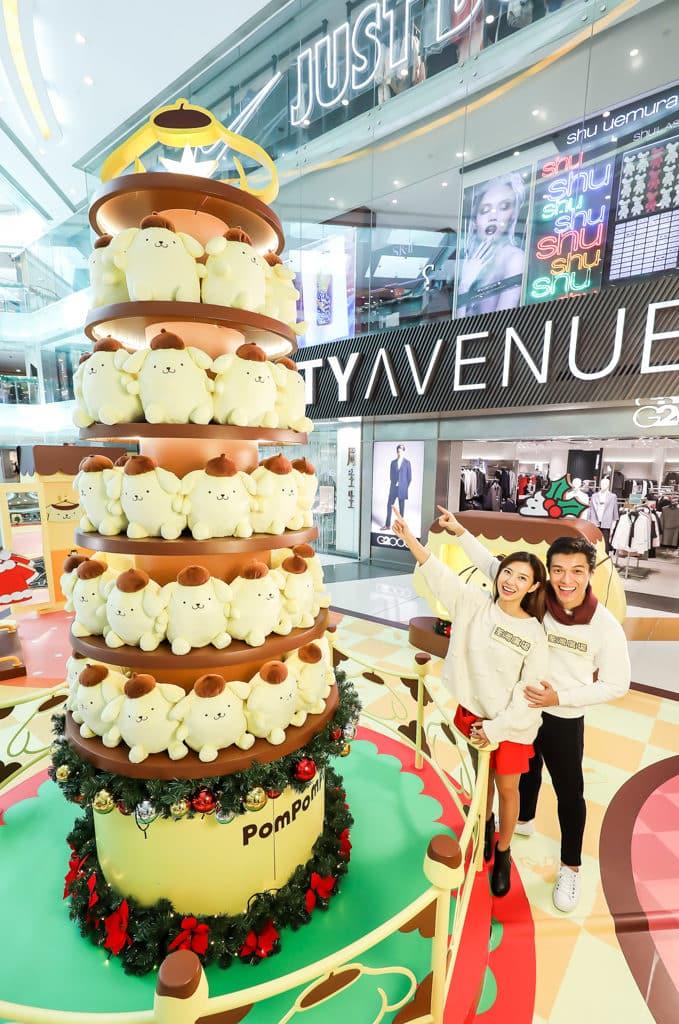 荃灣廣場Pompompurin部屋聖誕派對 Pompompurin 布甸狗 11 呎高軟綿綿聖誕樹。