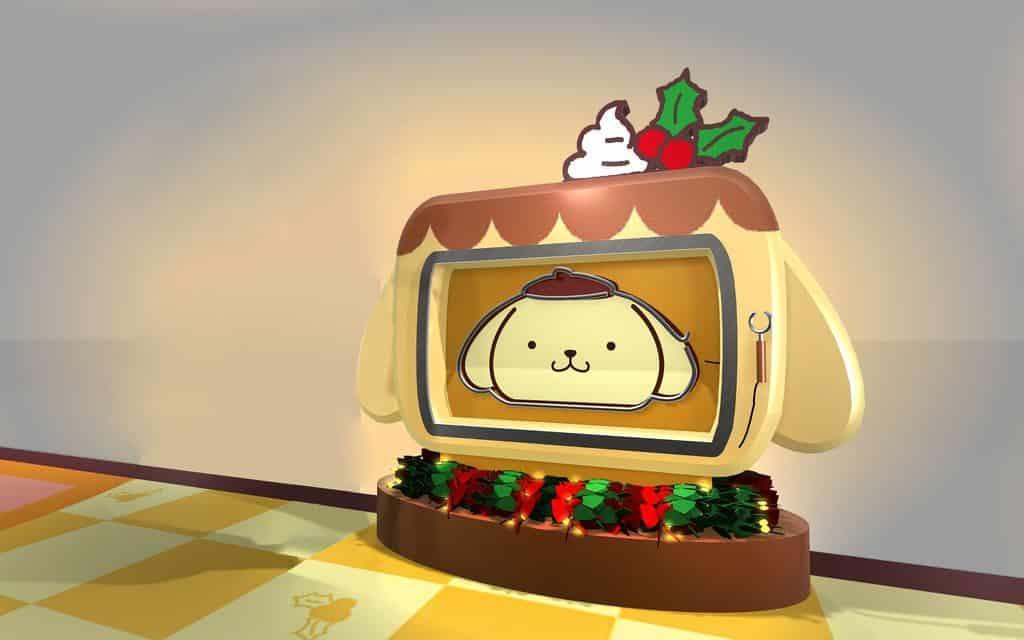 荃灣廣場:Pompompurin 部屋聖誕派對-眼明手快電視機。