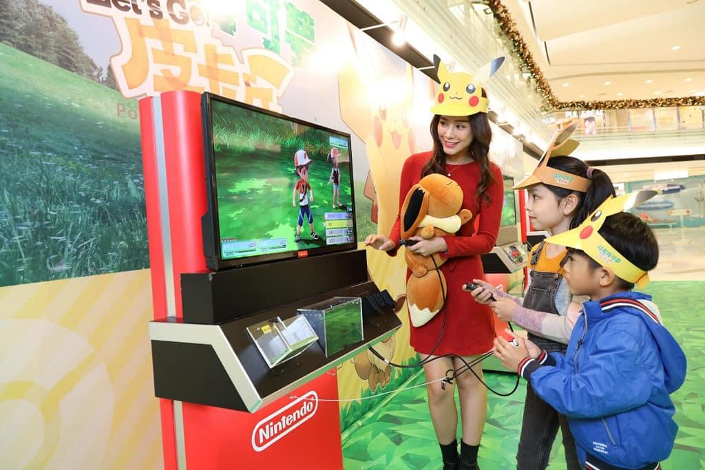 黃埔新天地:Pokémon聖誕大量発生企劃 試玩Switch《精靈寶可夢 Let's Go!》遊戲