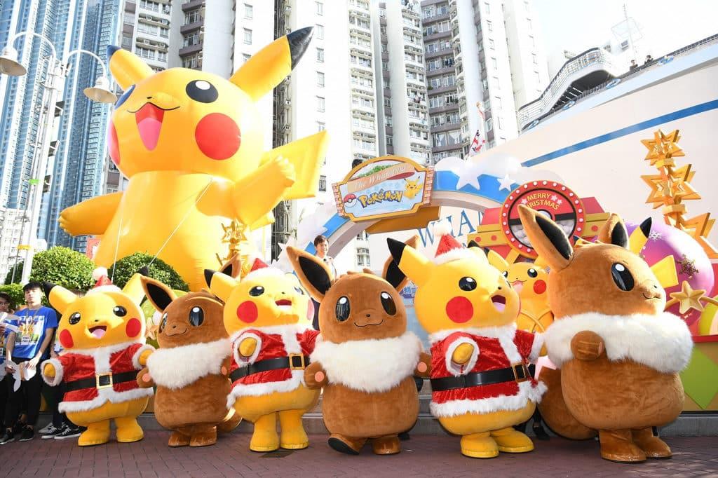 黃埔新天地:Pokémon聖誕大量発生企劃 皮卡丘率領一眾 Pokémon「亂入」香港黃埔新天地!