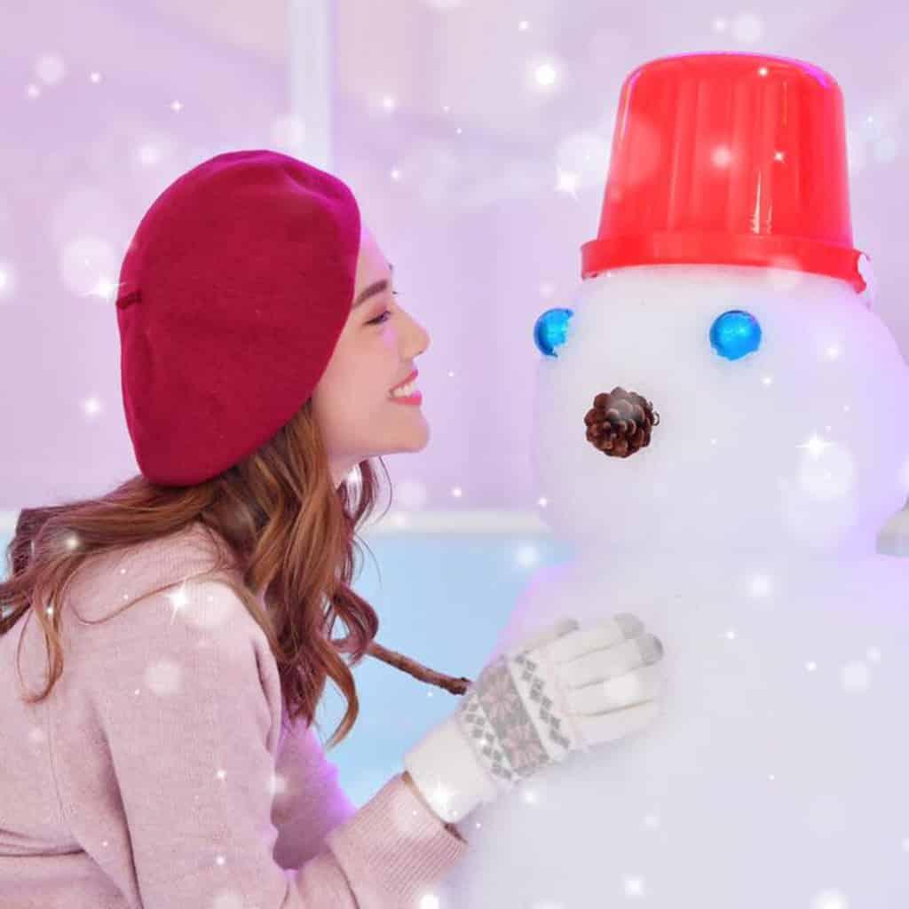 YOHO MALL:冰雪世界 YOHO White Wonders 來到冰雪世界可同雪人玩遊戲。