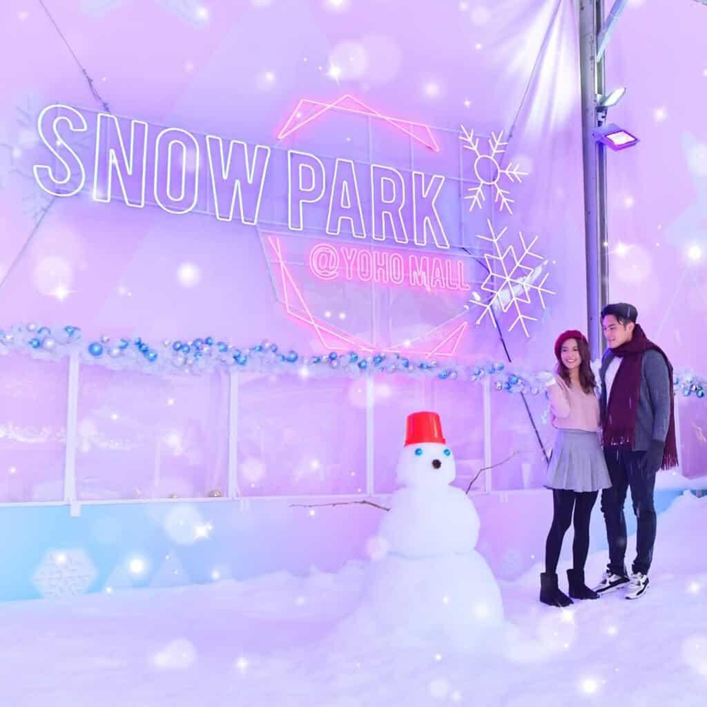 YOHO MALL:冰雪世界 YOHO White Wonders 漫天雪地是情侶浪漫拍拖勝地。