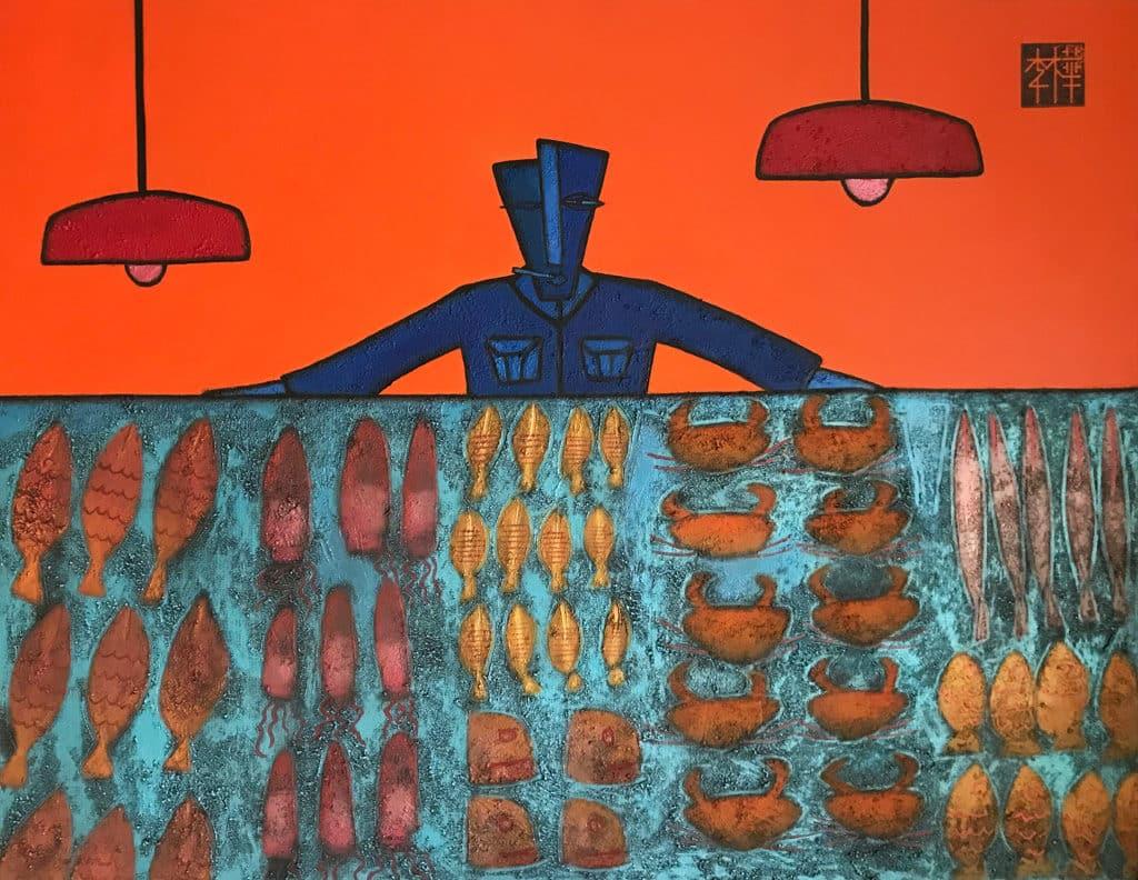 """金鐘:亞洲當代藝術展2019春季展 """"FishMan"""",Martin Lever,香港,房間 4323"""