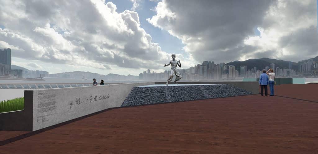 尖沙咀星光大道重開 2019年1月底 流水階梯設計與李小龍截拳道「水的哲學」相呼應。