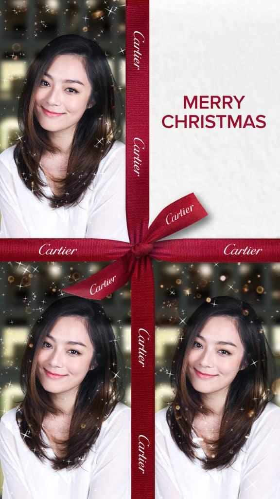 「卡地亞假大館傳揚聖誕精神」慶祝活動 Facebook照片濾鏡|絲帶設計
