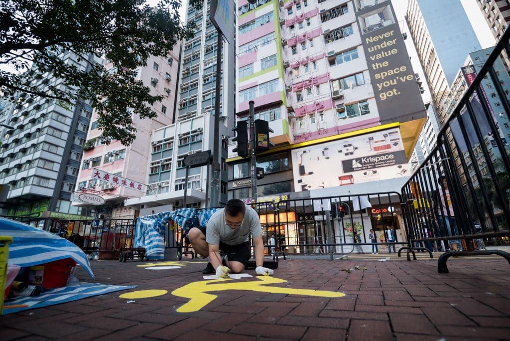 香港設計中心:「#ddHK設計#香港地」修頓遊樂場外的路面創作