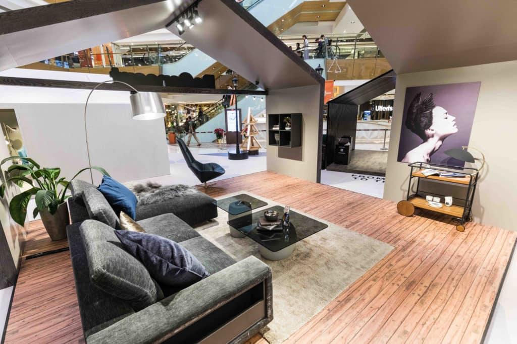 HomeSquare沙田:Holly Jolly Home|丹麥聖誕村莊·主題小屋佈置 小屋由啡、灰及白的大地暖色調作主色。