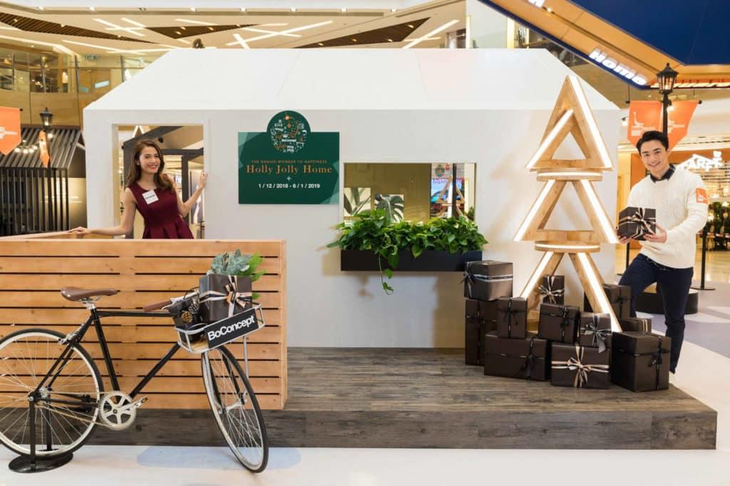 HomeSquare沙田:Holly Jolly Home|丹麥聖誕村莊·主題小屋佈置 北歐風格主題的小屋取材自北歐大自然及傳統設計。