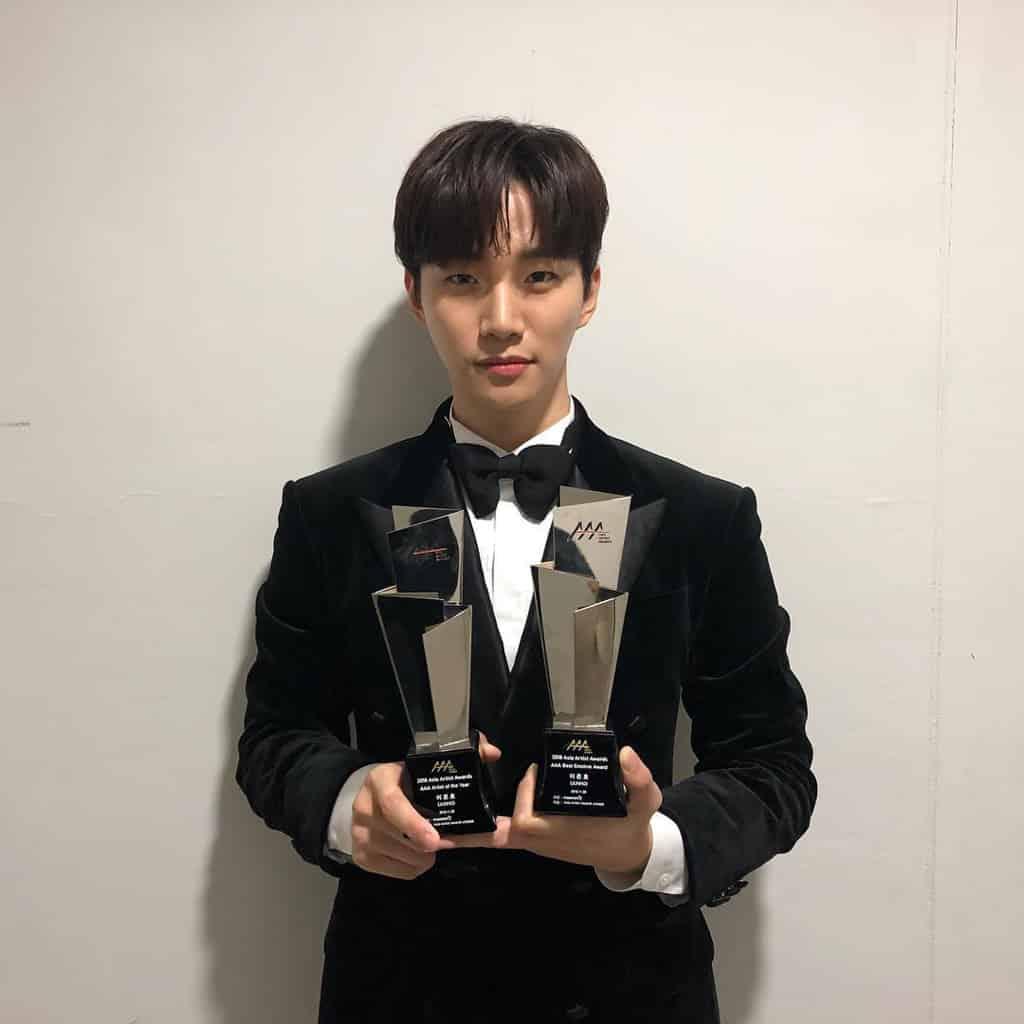 上水廣場:俊昊@2PM除夕夜倒數派對 俊昊以演員身份奪下「年度藝人」及「最佳感情演繹獎」。