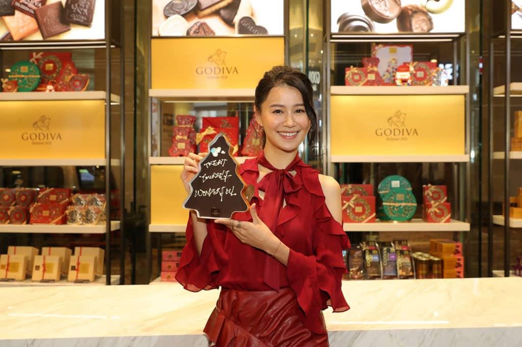 MOKO新世紀廣場:GODIVA巨型巧克力聖誕卡雕塑展覽 GODIVA 今年聖誕推出限量系列產品。