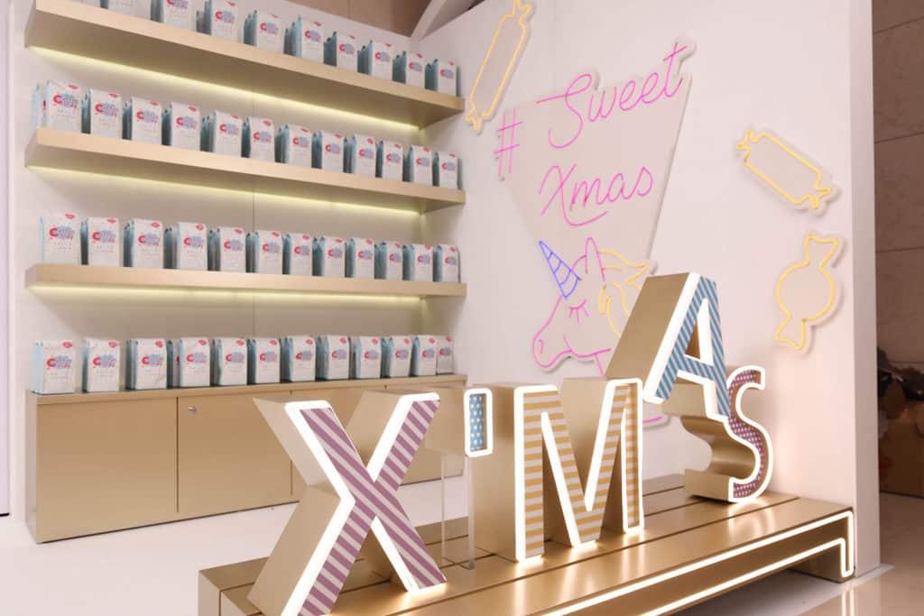 Nan Fung Place:綿綿聖誕·光影糖果世界 綿菓子工坊在 Nan Fung Place 設立聖誕期間限定店。