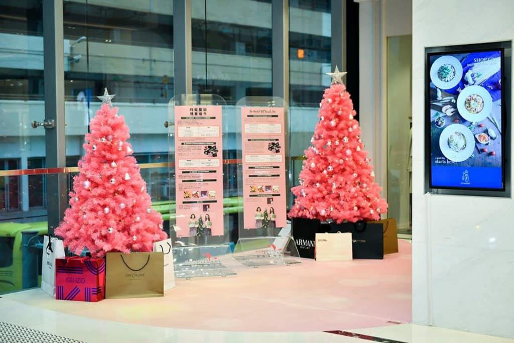 香港佛羅倫斯小鎮「紅粉聖誕」紅粉聖誕樹