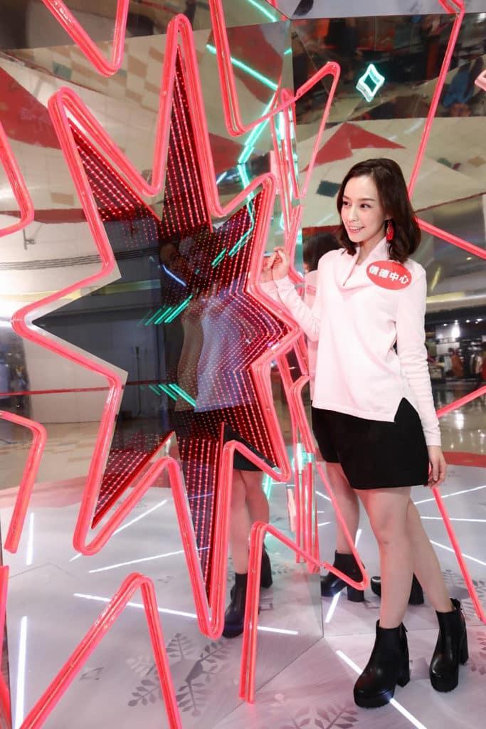 信德中心 「光影聖誕狂想曲」信德中心利用光影特效打造型格聖誕裝置。