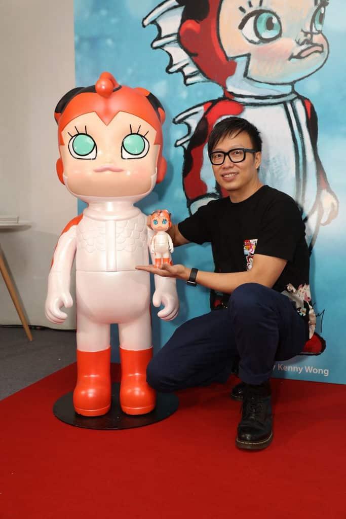 TOYSOUL亞洲玩具展2018 香港設計師 Kenny Wong 以金魚街為靈感創作大會吉祥物「魚童」。