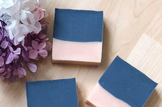 淘大商場週末市集: 「阿茶手皂」堅持採用高質材料,天然植物油,製作手工香皂。