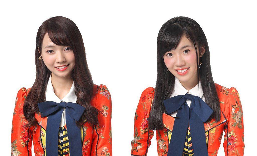 台灣女子偶像團體 AKB48 Team TP 成員 Mina 潘姿怡(左)與 Pinhan 邱品涵(右)將會在 C3AFA HK 2019 主舞台為觀眾作華麗演出。