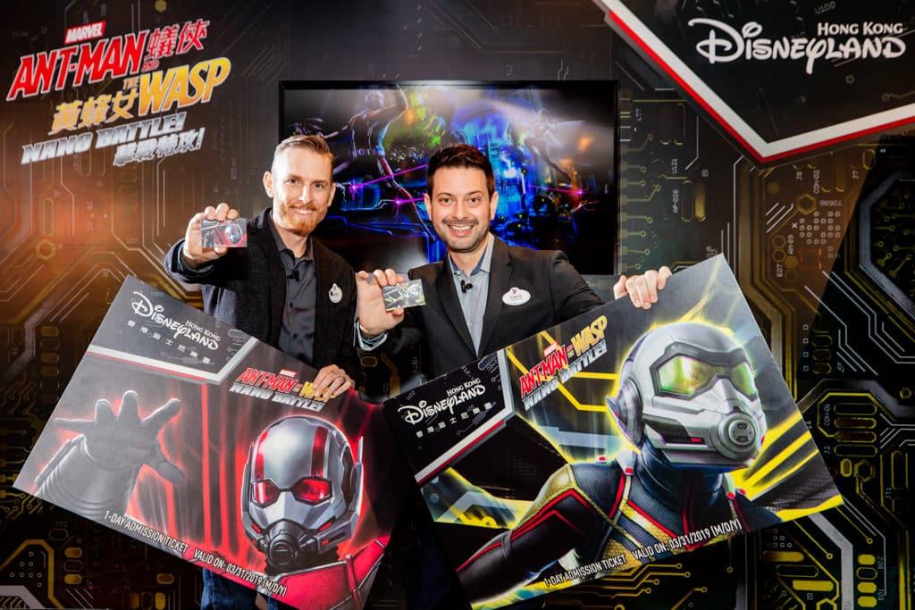 香港迪士尼樂園最新 Marvel 主題遊樂設施「蟻俠與黃蜂女:擊戰特攻!」已於 2019 年 3 月 31 日開幕。
