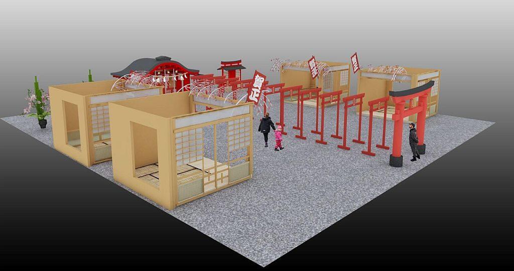 「D·PARK遊世界 日本新年祭」會場構建三大日式和室,包括:日本傳統和室、人偶主題和室、日本武士主題和室。