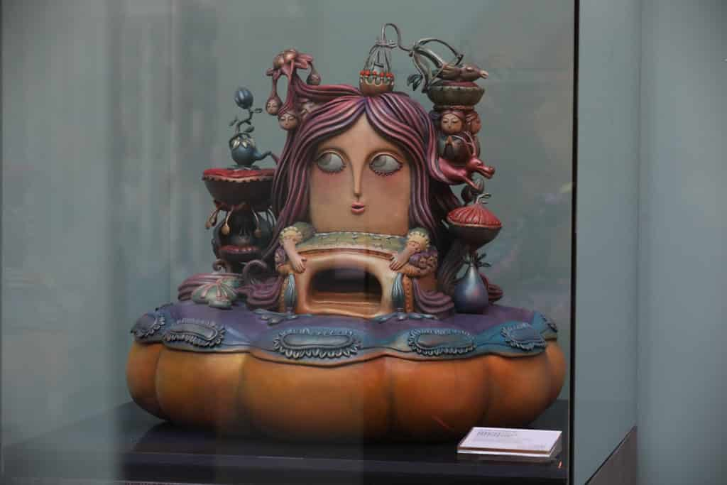 ELEMENTS圓方:「年年有餘」新春藝術裝置 陳莉的另一得意之作:《南瓜蒂上的秘密約會》雕塑。