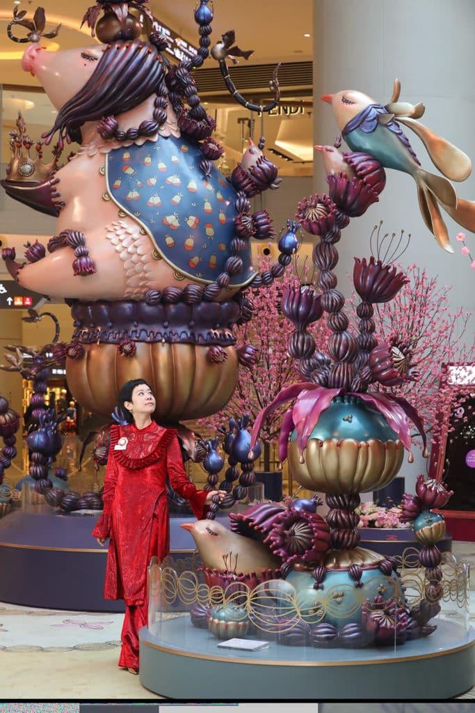ELEMENTS圓方:「年年有餘」新春藝術裝置 ELEMENTS 圓方聯同藝術家陳莉打造新春藝術裝置。