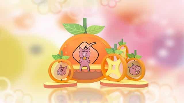 皇室堡 Elephant & Piggie 童趣新春樂園:大桔轉轉轉運站