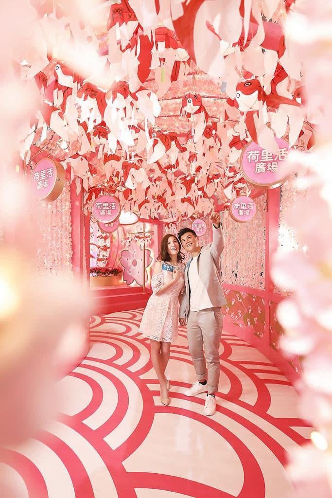 荷里活廣場:柳井金魚春日祭 場內掛滿超過 200 個手製金魚燈籠。