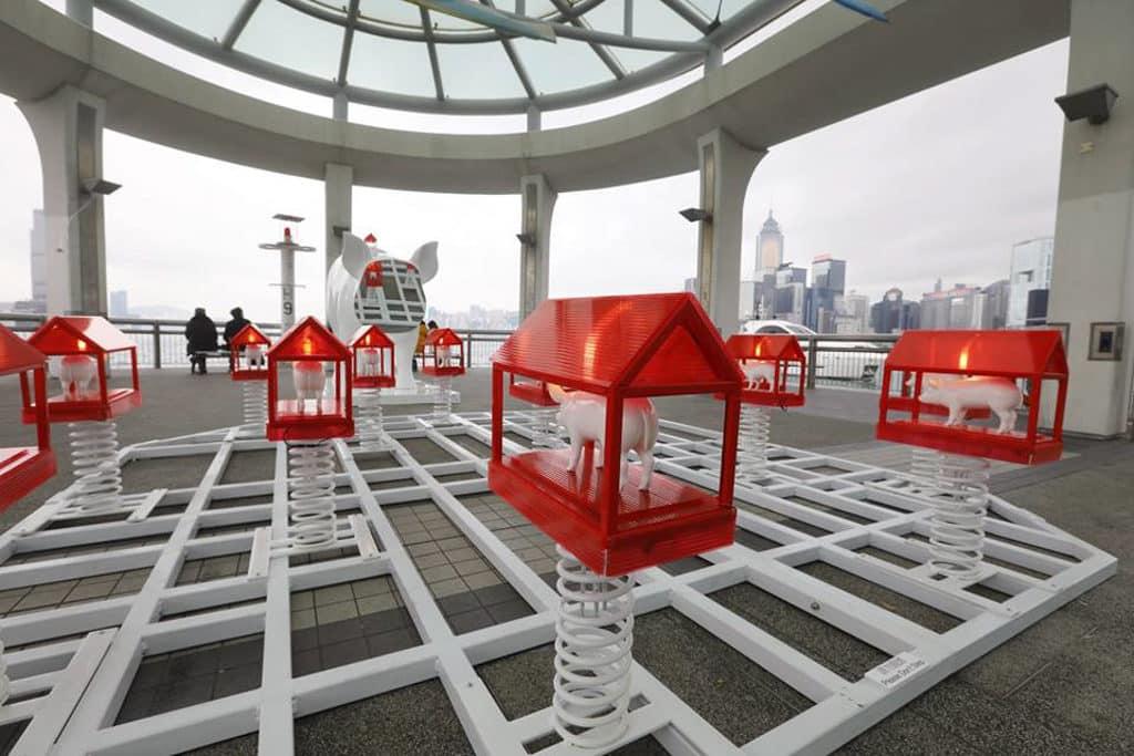「家?」大型戶外展覽 @ 賽馬會藝壇新勢力 展覽以流動的方式移動到香港不同地方。