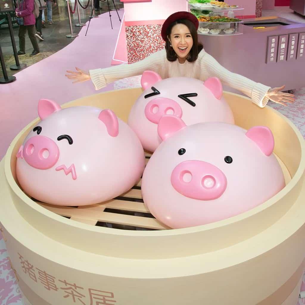 朗豪坊:《豬事如意》賀新年 豬仔包蒸籠