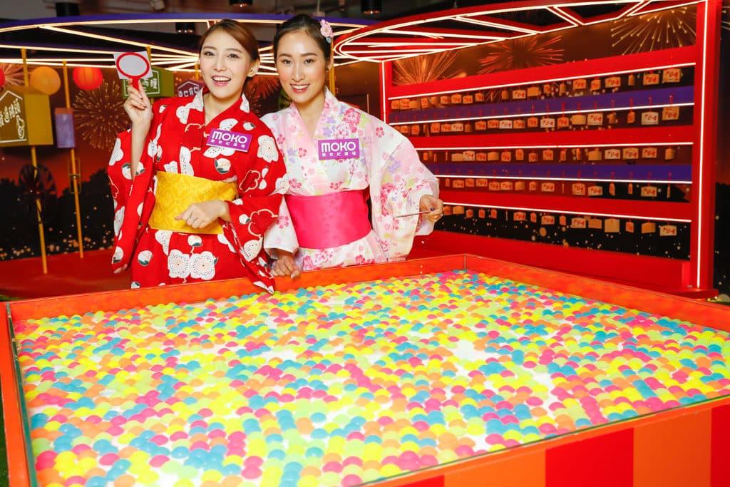 MOKO:新春光影日本風車祭 彩球撈撈樂:在指定時間內,撈起最多發光的彩球,為來年增添幸福美滿。