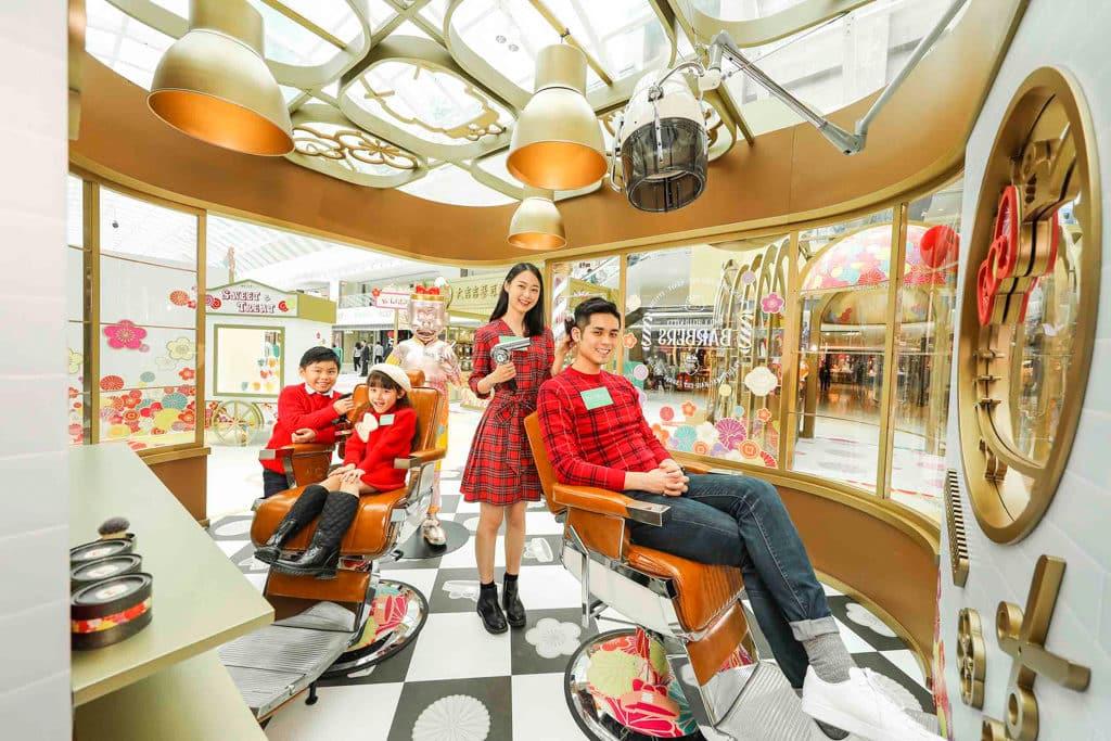 MosTown新港城中心:Hello Kitty×老夫子『玩』傳統新年 老夫子懷舊理髮店