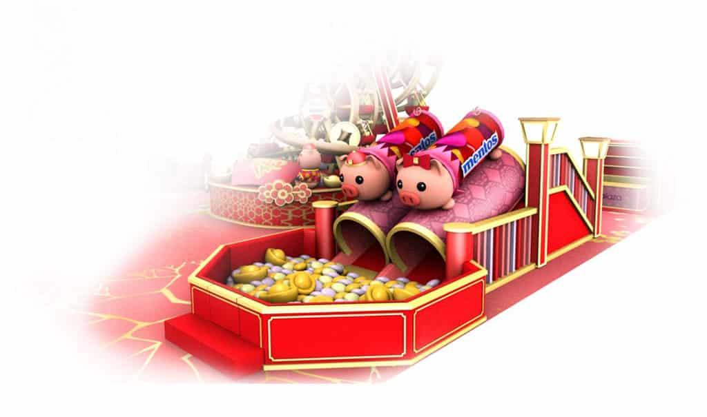 屯門市廣場:「新春遊樂園」萬樂珠主題裝置 盤滿缽滿萬樂豬玩樂區