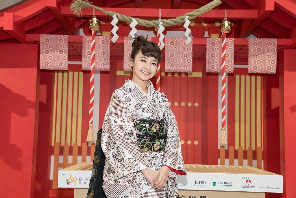 大家來到愉景新城日本新年祭,可穿上日本和服,參拜日本神社結良緣。