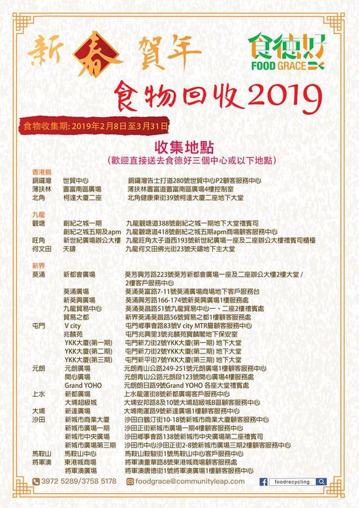 食德好「新春賀年食物回收 2019」