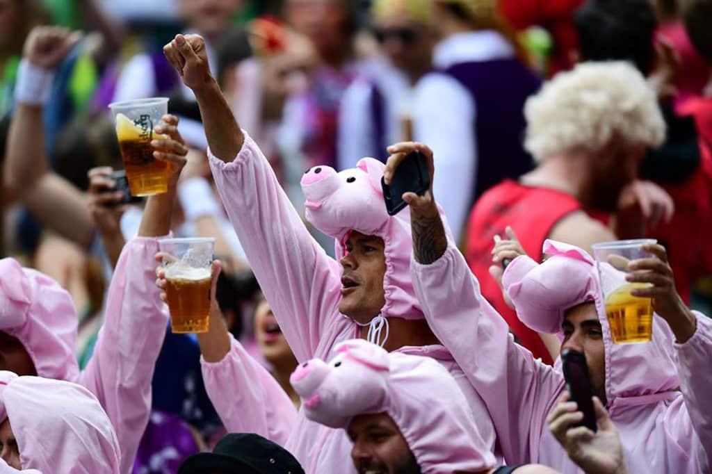 香港國際七人欖球賽2019 搞鬼打扮是每年賽場外的焦點花絮。