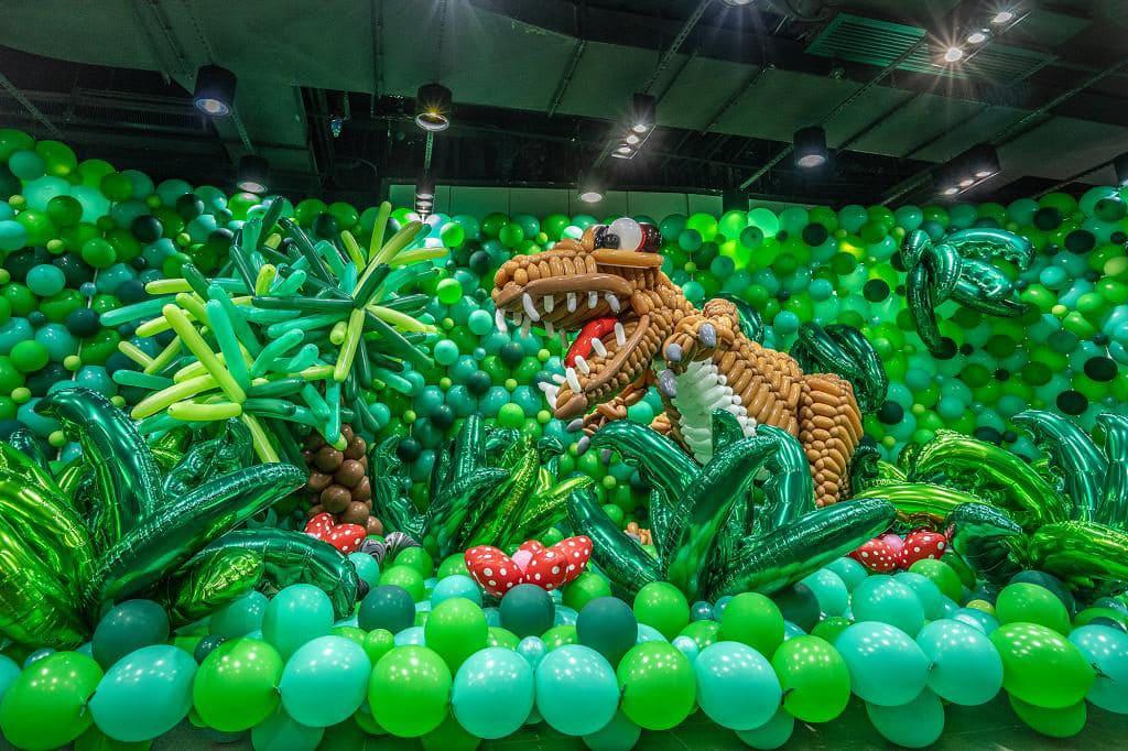 KCP九龍城廣場:「恐龍世界大冒險」氣球藝術展覽 「恐龍世界大冒險」設有 11 個打卡展區。