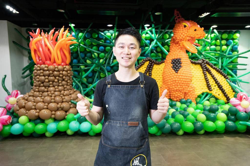 KCP九龍城廣場:「恐龍世界大冒險」氣球藝術展覽 Wilson Pang 及其團隊以 8 萬個環保氣球打造「恐龍世界大冒險」。