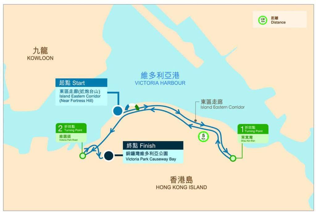 渣打香港馬拉松 2019 10K賽事路線