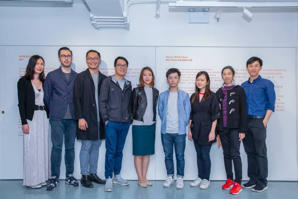 WMA映香港攝影比賽2019及作品展 WMA映香港攝影比賽2018一眾得獎者及策展人。