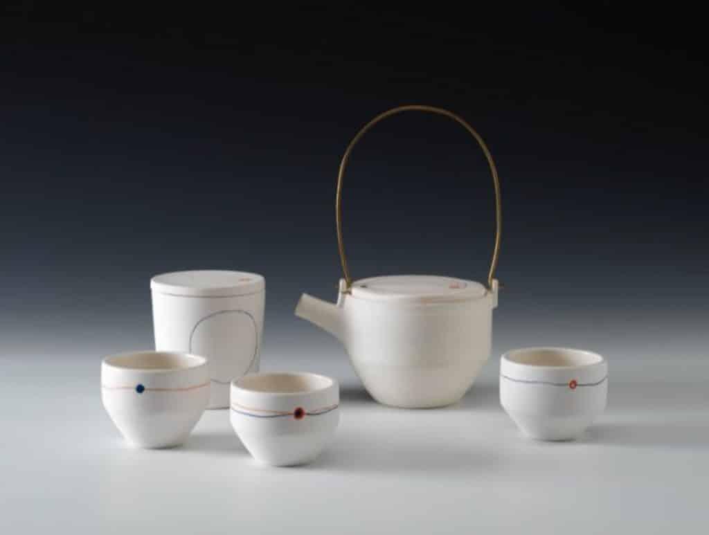 茶具文物館:陶瓷茶具創作展覽2018 公開組冠軍 陳卓甄 相遇 拉坯瓷器