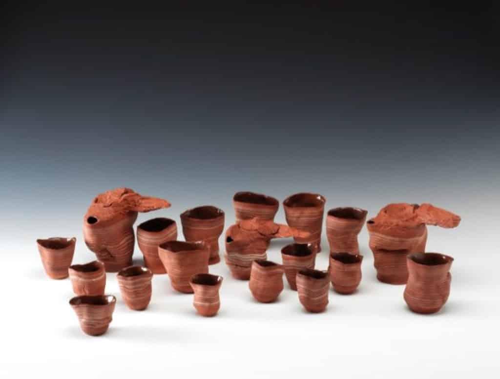 茶具文物館:陶瓷茶具創作展覽2018 季軍 郭家飛 山丘 拉坯及接板赤陶器