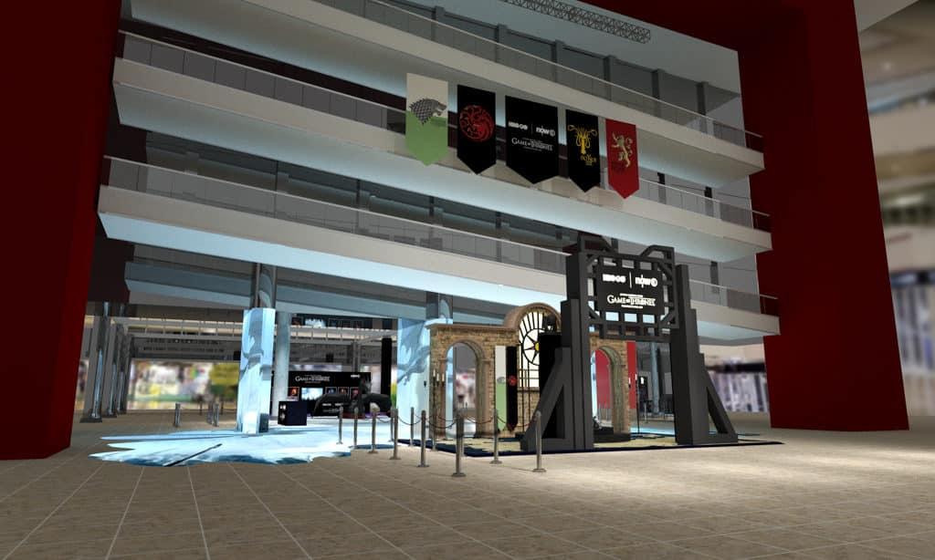 太古城中心:《權力遊戲:寒冬世界》終極體驗 展覽打造多個不同體驗區域。