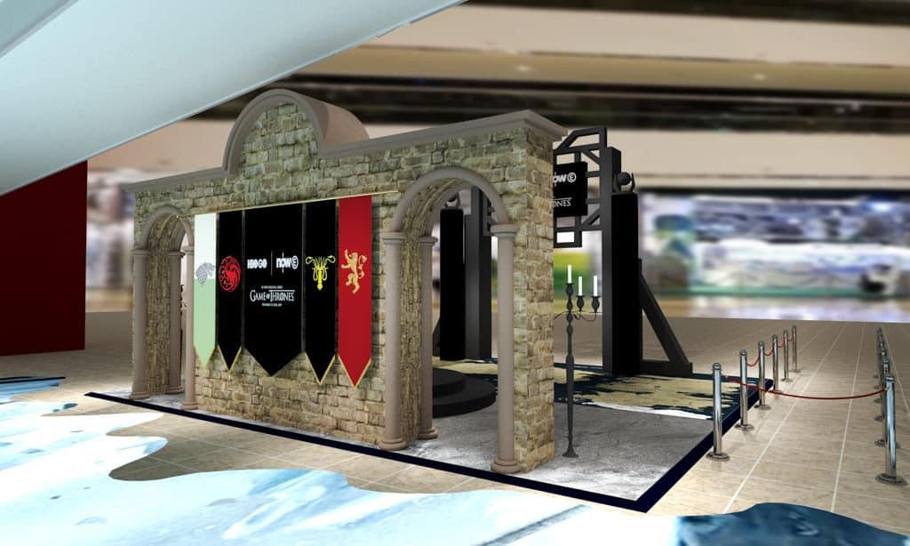 太古城中心:《權力遊戲:寒冬世界》終極體驗 參觀者可坐在「鐵王座」上,體驗到七大王國統治者的皇者視覺。