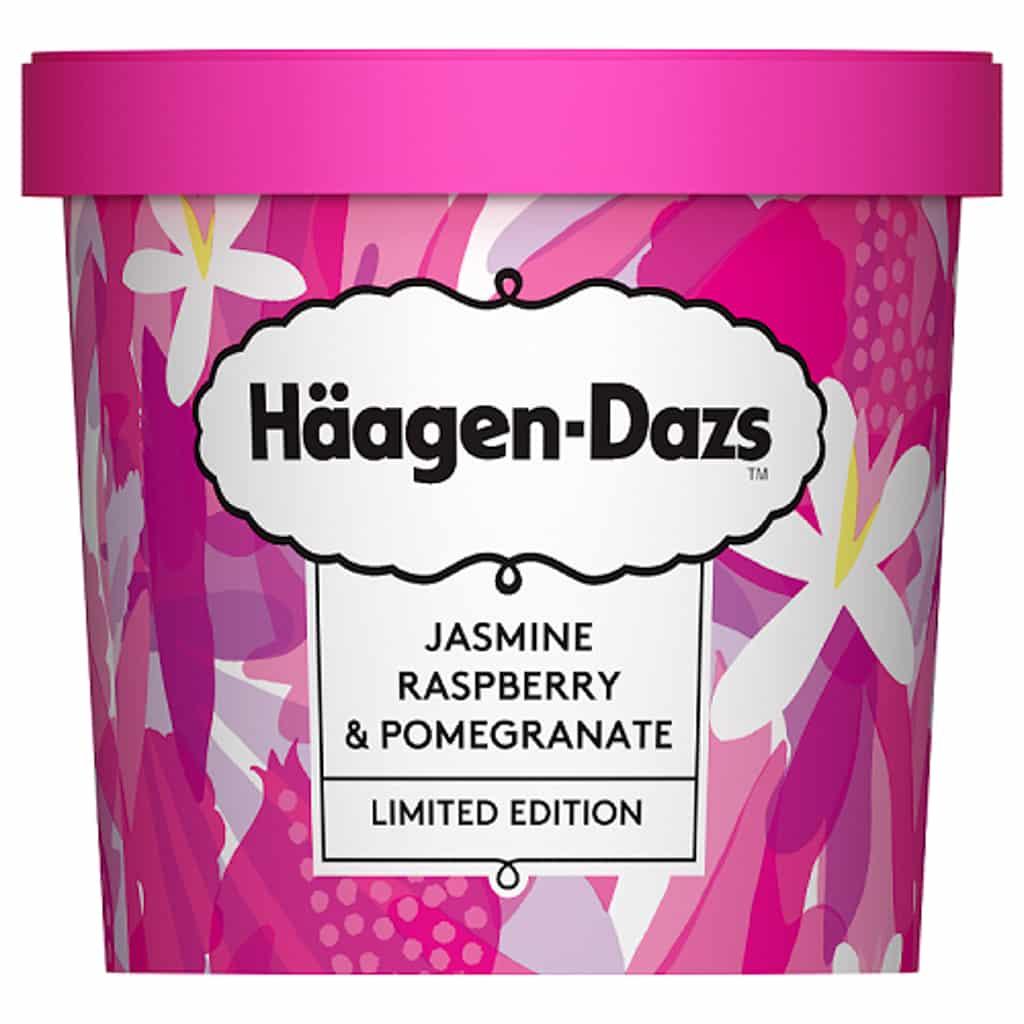 銅鑼灣東角免費派發Häagen-Dazs花果系列雪糕 茉莉花紅桑子石榴雪糕