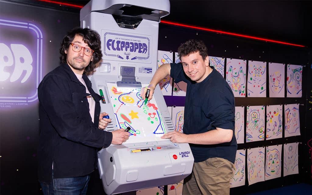 海港城:The ART-CADE電「紙」遊戲機中心 法國和比利時的藝術家 Jérémie Cortial 與 Roman Miletitch
