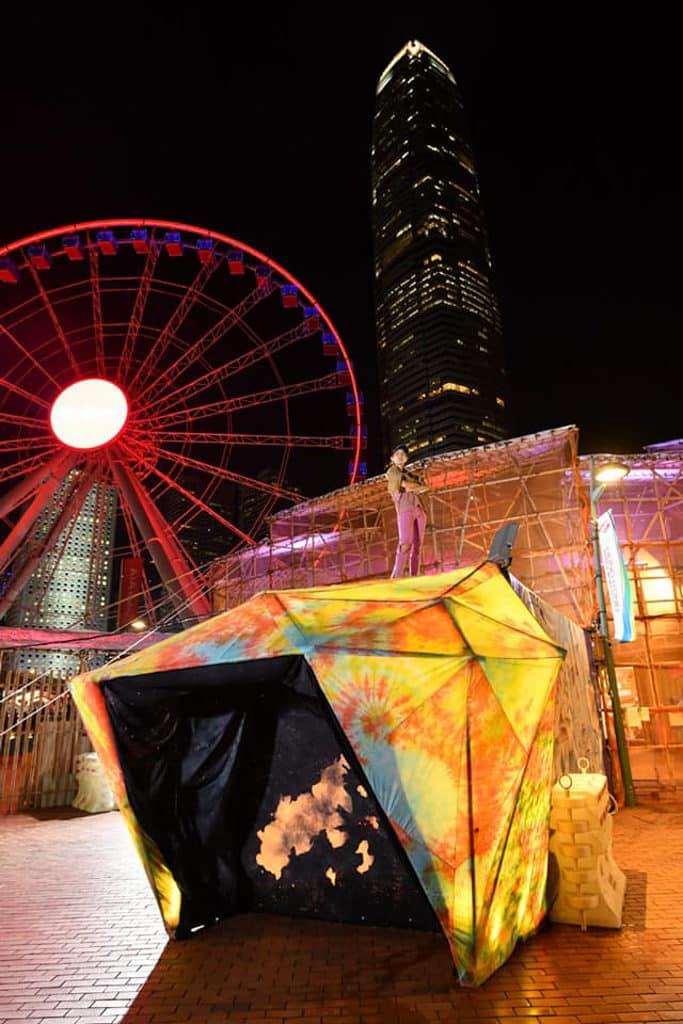 中環碼頭:百寶圖展覽 「百寶圖」展覽在中環碼頭外設置大型臨時展亭。