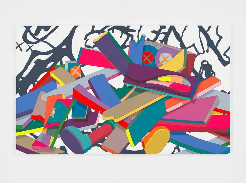 《KAWS:ALONG THE WAY》PMQ元創方展覽 展覽亦會展出 KAWS 的近期畫作。
