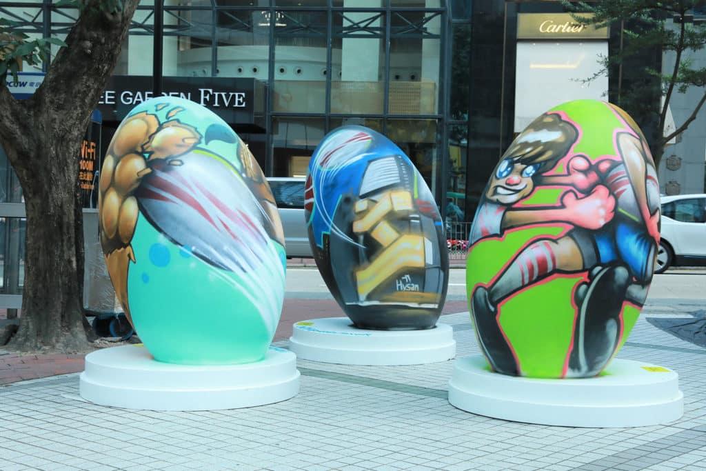 國泰航空/滙豐香港國際七人欖球賽FanWalk 街頭藝術裝飾讓大家到來打卡。
